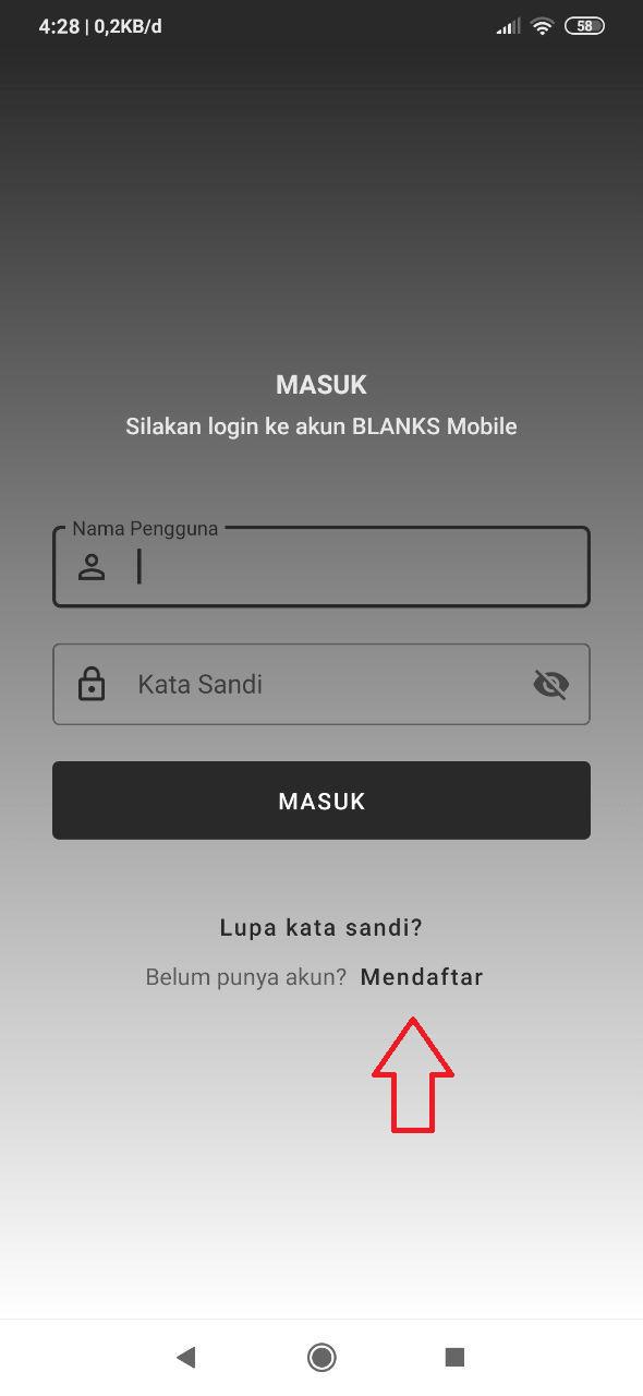Panduan Mendaftar Melalui Aplikasi Android BLANKS Mobile